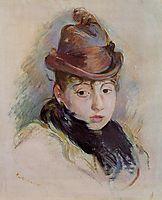 Young Woman in a Hat (Henriette Patte), 1891, morisot