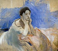 Young Woman Leaning on Her Elbows, 1894, morisot