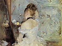 Young Woman at the Mirror, 1880, morisot