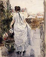 Young Woman Watering a Shrub, 1883, morisot