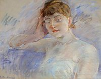 Young Woman in White (aka Isabelle Lemmonier), c.1886, morisot