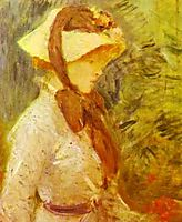 Young Woman with a Straw Hat, 1884, morisot