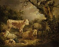 Calf and Sheep, morland