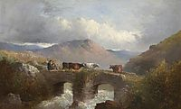 Herdsman with Cattle Crossing Bridge, morland