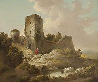 Landscape with Ruined Castle, morland