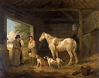 Paying the Ostler, 1804, morland