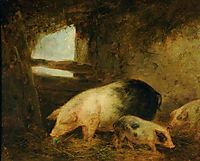 Pigs in a Sty, morland