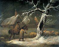 Shepherd in a Snowy Landscape, morland