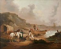 Smugglers on a Beach, morland