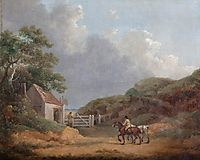 Wooded Landscape with a Toll Gate, morland