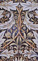 Panel of ceramic tiles designed by Morris and produced by William De Morgan, 1876, morris