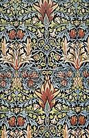 Snakeshead printed textile, 1876, morris