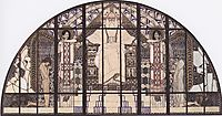 Am Steinhof Church, colored sketch of south window, moser