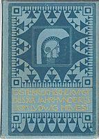 Book cover of Austrian art of the XIX. Century, 1903, moser