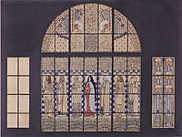 Church Am Steinhof, design for the east side windows, 1905, moser