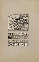 Cover design of the first publication of the Association of Austrian Artists Secession, 1897, moser
