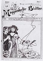 Cover design for Meggendorfer leaves, c.1895, moser