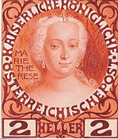Design for the Anniversary Stamp Austrian with Empress Maria Theresa, 1908, moser