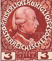 Design for the Anniversary Stamp with Austrian Emperor Joseph II, 1908, moser