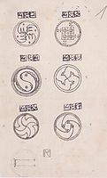Designs for silver brooches, 1904, moser