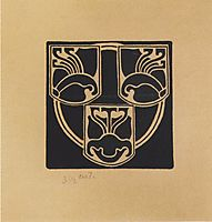 Draft of the emblem by the Association of Austrian Artists Secession, 1897, moser