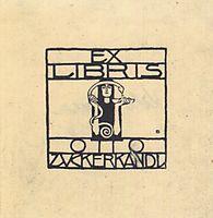 Exlibris for Otto Zuckerkandl, 1906, moser