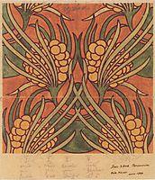Fabric design for Backhausen, 1899, moser