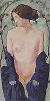 Female Nude with blue cloth, c.1913, moser