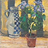 Flower pot and ceramic jug, 1912, moser