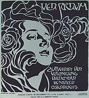 Girl-s Head. Cover design Ver Sacrum, 204, 1899., 1899, moser