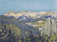 Landscape in Semmering, 1913, moser