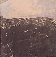 Landscape with cloudy sky, c.1904, moser