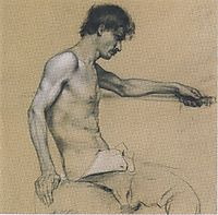 Male Nude Study, c.1888, moser