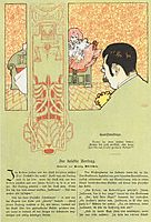 Matter of conscience. Humorous Illustration for Meggendorfers leaves., 1897, moser