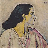 Portrait of a Woman in Profile, c.1912, moser