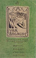 Postcard to Carl Moll, Ver Sacrum, 1897, moser