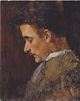 Rudolf Steindl, a brother of the artist, c.1895, moser