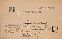 Square vignette, 1896, moser