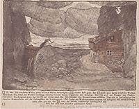 Stage design for -The lake- of Julius Bittner, c.1911, moser
