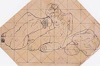 Three crouching women, c.1914, moser