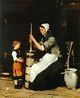 Churning Woman, 1873, munkacsy