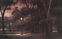 Evening in Parc Monceau, 1895, munkacsy