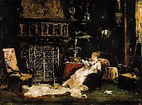 Paris Saloon (Wife of the Artist), munkacsy