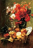 Still-life with Flowers and Fruits, 1882, munkacsy