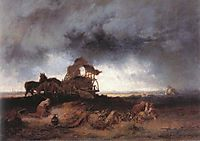 Storm at the Puszta, 1867, munkacsy