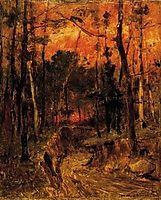 Sunset in the Forest, 1874, munkacsy