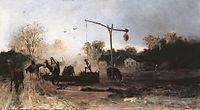 Watering, 1869, munkacsy