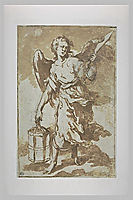Angel holding the lantern and the sword that was used to cut the ear of Malchus, 1660, murillo