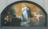 The Apparition of the Immaculate Virgin to six characters, 1665, murillo