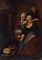 Baking of Flat Cakes, 1650, murillo